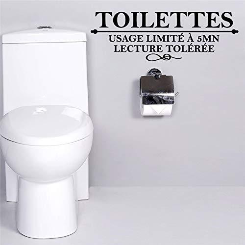 CVG Französisch Toiletten Toilette Wandaufkleber Verwendung Limite eine 5 Minuten Vortrag Toiletten Badezimmer Wandtattoos Kunst Poster Home Decoration