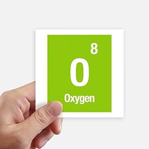 DIYthinker Química de Oxígeno Elemento Ciencia calcomanía cuadradas Personalizadas 10cm Pared Maleta...