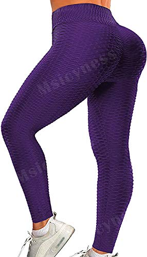 Msicyness Butt Lift Yoga Hose Hohe Taille Workout Beute Leggings Blase Strukturierte Scrunch Strumpfhose Bum Rüschen Anti Cellulite Kompressionshose