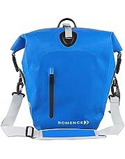 Bomence Fietstas voor bagagedrager, 100% waterdicht, 25 liter, blauw, milieuvriendelijke fiets tas, Schoudertas, Bagagedragertas