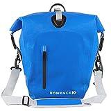 Bomence Alforja para bicicleta 100% impermeable, bolsa para sillín de bicicleta, bolsa para portaequipajes, grande, mate, 25 L, individual