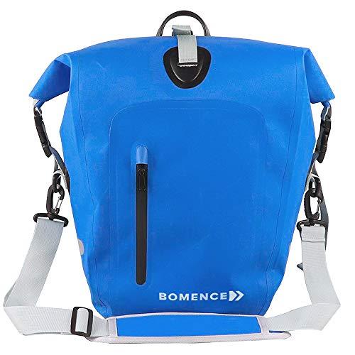 Bomence Fahrradtasche für Gepäckträger 100% wasserdicht, 25L, blau - Gepäckträgertasche Radtasche hinten Satteltasche Hinterradtasche - umweltfreundliche Fahrrad Tasche