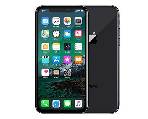 Apple iPhone X, Fully Unlocked, 256GB - Silver (Renewed)