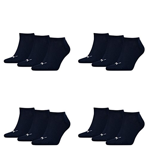 PUMA  Unisex Sneakers Socken Sportsocken 12er Pack, 43-46, Navy