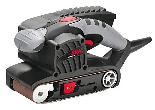Skil Bandschleifer 1215 AA (650 W, 76 x 457 mm, automatische Bandzentrierung, +Schleifrahmen, + Staubsauger-Adapter)