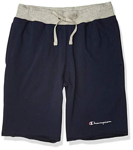 Champion Men's MIDDLEWEIGHT Short, Navy/Oxford Grey, Medium