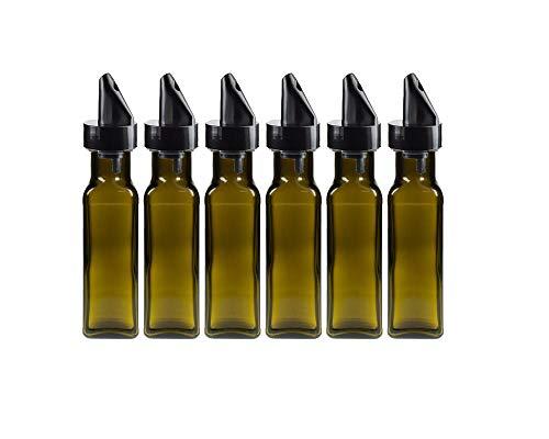 Vitrea lege glazen flessen Maraska groen 100 ml incl. Schroefdop zilver/goud sapfles likeurflessen jeneverflessen olieflessen om zelf te vullen