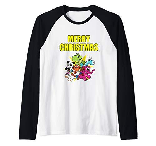 Merry Christmas Raglan Baseball Tee