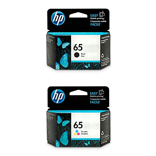 HP 65 | Ink Cartridge Bundle | Black, Tri-Color | N9K02AN, N9K01AN
