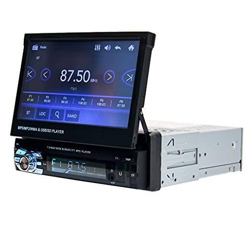 KKmoon 96011 DIN Radio de Coche Reproductor MP5 para Automóvil, Autoradio con Pantalla Táctil de 7 Pulgadas Reproductor Estéreo para Automóvil, Multimedia-Receptor con cámara de visión Trasera