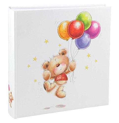 IDEAL Cat & Bears Fotoalbum 30x30 cm 100 weiße Seiten Baby Kinder Foto Album Fotobuch: Farbe: Ballon