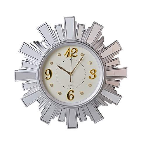 TSTYW Grande Orologio da Parete Rotondo Elegante e Moderno 52CM Orologio da Parete al Quarzo ticchettio Silenzioso, Movimento al Quarzo di qualità Significa Che l'orologio è Molto preciso