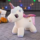 Kawaii alas Brillantes Unicornio de Peluche de Juguete Animales de Peluche muñeca de Pelo Mullido Volar Caballo muñeca Juguetes para niños 35cm C
