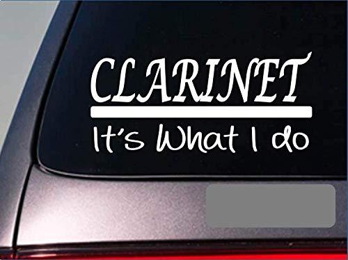 Klarinet Sticker Stickers Hoorn Messing Trompet Flute Band High School Bass