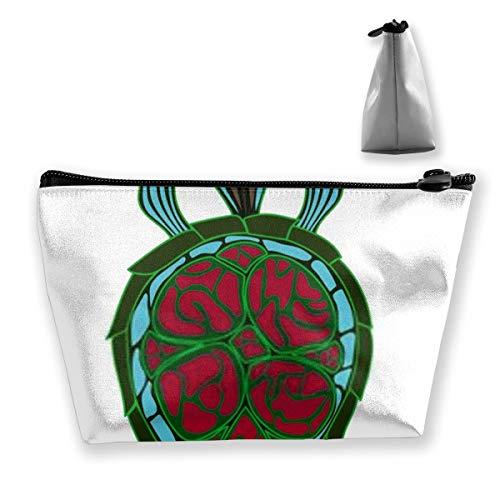 Sac de rangement décoratif en forme de tortue de mer avec réglable pour cosmétiques, pinceaux de maquillage, produits de toilette