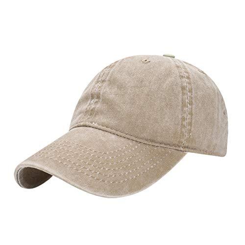 wtnhz Sombrero-Gorra de Sarga de algodón de Color sólido con Visera, Sombrero de Copa Suave con Visera de Sol de Tablero de luz Vieja