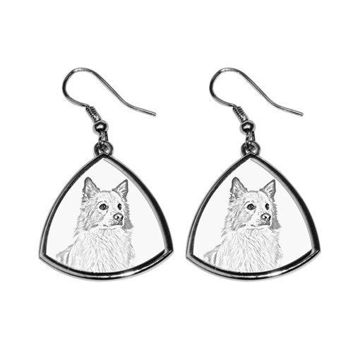 Islandhund, Sammlung von Ohrringe mit Bildern von reinrassigen Hunden, einzigartiges Geschenk