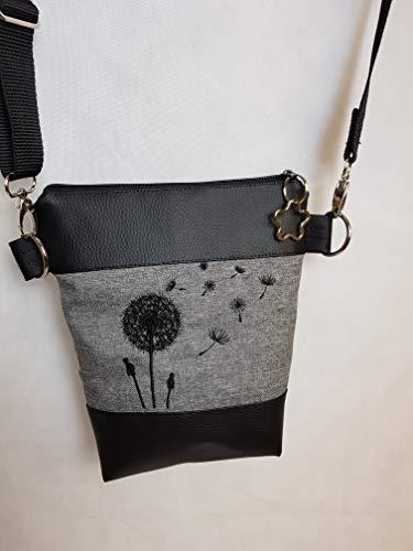 Kleine Handtasche Pusteblume Umhängetasche Schultertasche Tasche mit Anhänger handmade Kunstleder