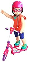 Click n' Play Doll Scooter and Helmet Set, Perfect For 18 inch American Girl Dolls