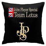 Xiongminqing Kissenbezüge Jps John Player Special Team Lotus Nette Persönlichkeit Dekorative Dekokissen Kissenbezüge 18x18inchs Dekokissenbezüge für Couch Schlafzimmer Auto