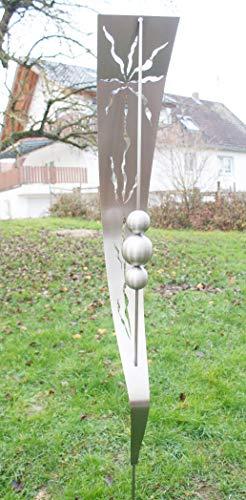 Skulptur Carmen Gartenstab Edelstahl Stecker