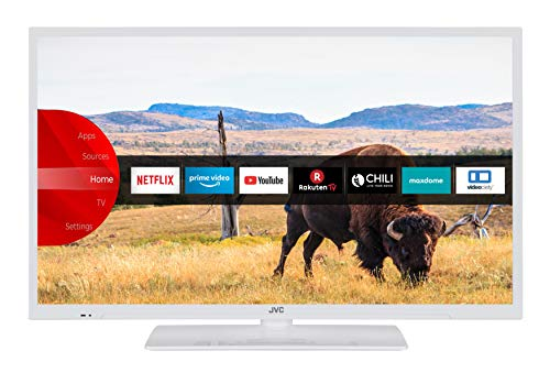 JVC LT-32V55LWA 81 cm / 32 Zoll Fernseher (Smart TV inkl. Prime Video / Netflix / YouTube, Full HD, Bluetooth, Triple-Tuner)