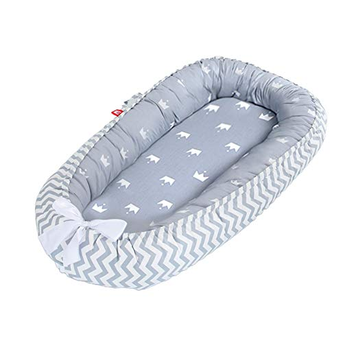 Baby Nest Baby Lounger for Newborn Co-Sleeping,Soft Cotton Breathable and Portable Infant Floor Seat for Crib & Bassinet,Perfect for Traveling and Napping,Newborn Shower Gift Essential