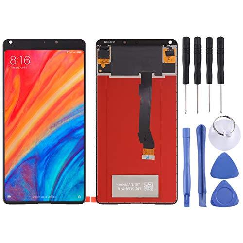 Zhangl Pantalla LCD del teléfono móvil Asamblea Completa de Pantalla LCD y digitalizador para Xiaomi MI Mix 2S Pantalla LCD (Color : Black)