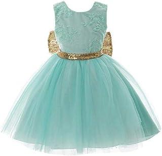 فستان من الدانتيل بدون أكمام للنساء، مزين بالترتر وربطة عنق كبيرة بشكل فيونكة