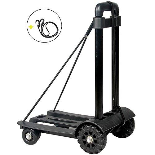Energy 折りたたみ式 キャリーカート 台車 超コンパクト 静音 耐荷重量50KG 固定ロープ付き プレゼント(ゴムひも×1)
