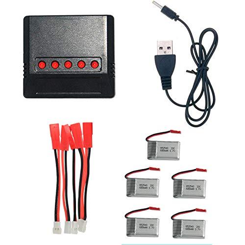 Batería de repuesto para Syma X5C, X5SW, X5SC, X5A, X5, X5C-1, Cheerson CX-30W (5 unidades)