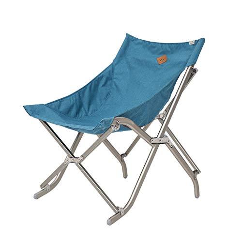 Outdoor draagbare Ultra Light Klapstoel outdoor vissen Chair Door Camping Stoel Seat Load Oxford Aluminium Doek Picnic Beach (Color : Blue)