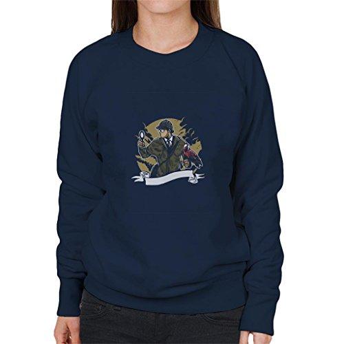 Cloud City 7 Sherlock Holmes Papegaai Vergrootglas vrouwen Sweatshirt