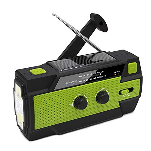 XCSOURCE 防災 ラジオ 懐中電灯 4000mAh 非常用照明器具 ラジオライト 手回し充電 USB充電 防災ラジオ 地震 震災 津波 台風 停電緊急対策 iPhone Android スマホ充電対応可能 手巻きラジオ JPV011