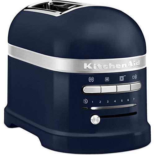Kitchenaid Artisan - 5kmt2204 - Tostadora de 2 ranuras Artisan 1250W, temporizador LED, color Azul Tinta 5KMT2204EIB
