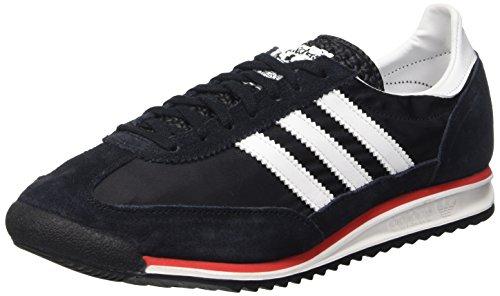 adidas SL 72, Zapatillas de Deporte para Hombre, Negro/Blanco/Rojo (Negbas/Ftwbla/Rojexu), 40 2/3 EU