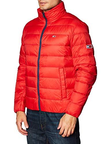 Tommy Hilfiger TJM Packable Light Down Jacket Chaqueta, Rojo (Deep Crimson), L para Hombre