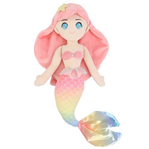Athoinsu Stuffed Mermaid Princess Soft Doll Plush Toy Birthday Children's Day Christmas for Toddler Girls, 15.5''