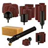 King Arthur's Tools Patented Guinevere Total Sanding Kit - 5 Inflatable Drum and Round Sanders with Sanding Sleeves for Woodworking, Shaping, Finishing - Works with most 3/8' Chuck Rotary Tools #11306