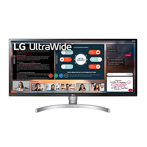 """LG 34WK650-W 34"""" UltraWide 21:9 IPS Monitor with HDR10 and FreeSync (2018), Black/White"""