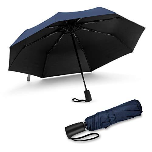JIGUOOR Paraplu Windbestendige UV-Blocker-reisparaplu, Compacte UV-beschermde parasol Uv-zon Automatisch openen/sluiten Opvouwbare paraplu's voor dames/heren, Levenslange garantie