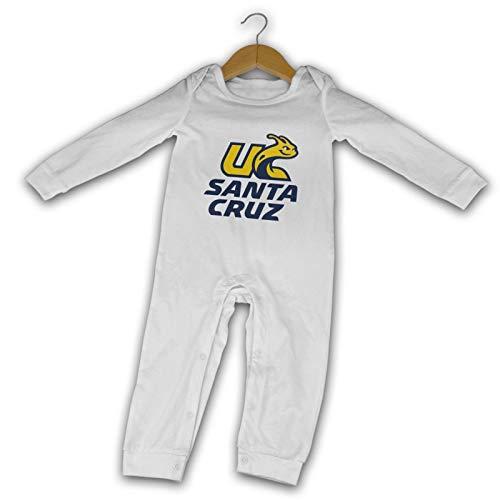 Haifengbaozhubao UC Santa Cruz Banana Slugs Newborn One-Piece Long Sleeves Baby Boys Girls Jersey Bodysuits Onesies White