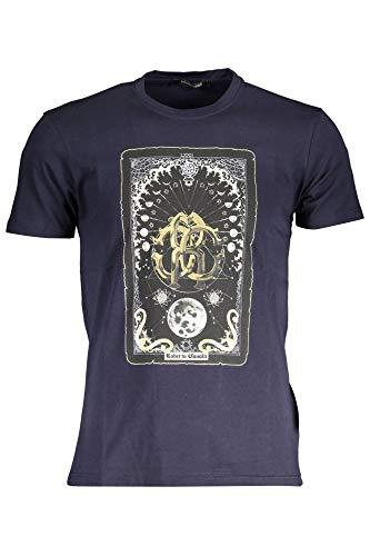 Roberto Cavalli GST643 T-Shirt Maniche Corte Uomo Blu Navy XL