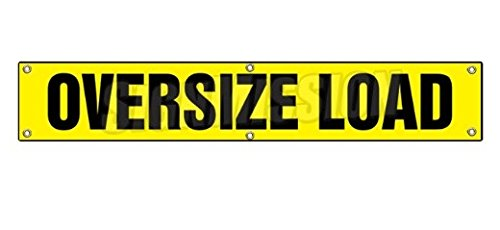 Over Size Load Sticker Sign Sized Large Caution Oversize Oversized Loads Truck Trailer Dot Safety Sticker Sign - Sticker Graphic Sign - Will Stick to Any Smooth Surface
