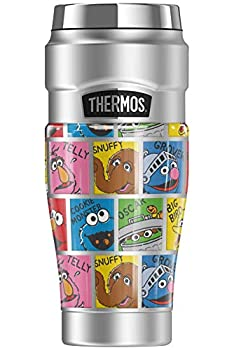 Sesame Street Character Named Blocks THERMOS STAINLESS KING Stainless Steel Travel Tumbler Vacuum insulated & Double Wall 16oz