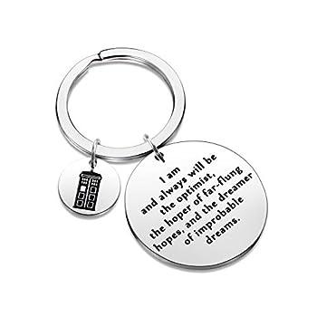 LLsuy Movie Inspired Keychain Tardis Gift Police Box Charm Jewelry Doctor Movie Keychain  Optimist-KR