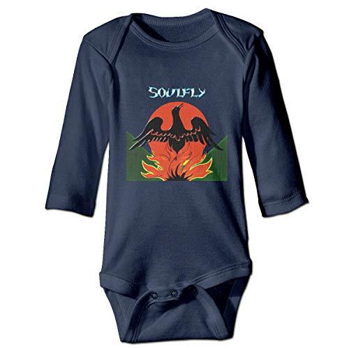 U are Friends Soulfly Primitive Nouveau-né Gilr's Boy Enfants Bébé Barboteuse T-Shirt Enfant À Manches Longues pour Enfant(6M,Marine)