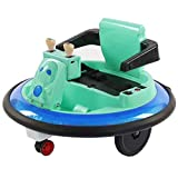 Huokan Ride-on Bumper Car - Kids Toy Electric Ride On Car for 360 Spin Powered with Light, Remote Control Walker Car Toy for Boys Girls Toddlers Aged 2+ Years, Multicolor Optional (Green)