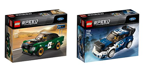 LEGO Speed Champions 2er Set: 75884 1968 Ford Mustang Fastback + 75885 Ford Fiesta M-Sport WRC