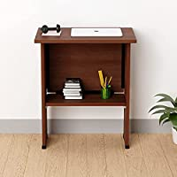 The Wall Engineered Wood Laminated Finish Foldable Computer Laptop Table or Study Desk (Dark Brown)